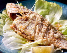 Grilled fish with butter