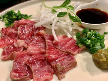Rare aged Wagyu beef steak