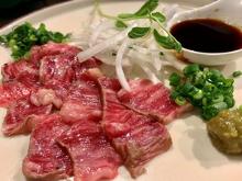 Rare aged Wagyu beef steak