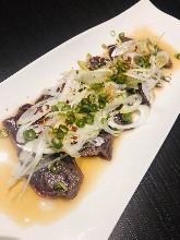 Seared beef liver