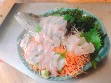Longtooth grouper sashimi
