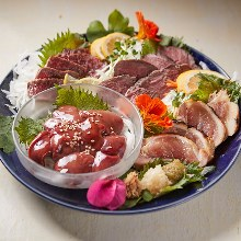 Assorted beef sashimi