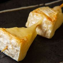 Charcoal grilled Camembert cheese