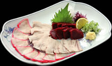 Assorted whale meat
