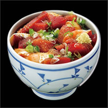 Tuna and salmon rice bowl