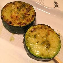 Grilled zucchini skewer