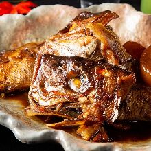 Grilled or simmered fish of the day