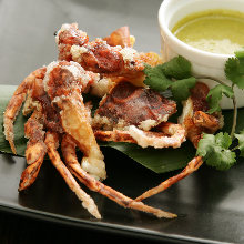 Fried soft shell crab