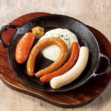 Assorted sausage