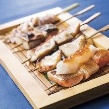 魚串五種盛合せ