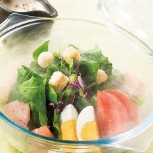 和野菜とじゃこのとろろサラダ