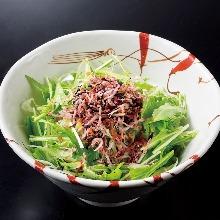 豆富と水菜のサラダ