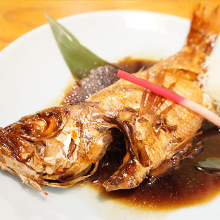 Simmered rosy seabass