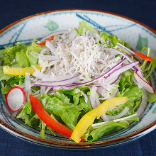Whitebait salad