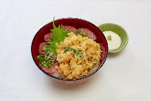 Mixed tempura rice bowl