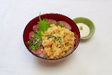 Mixed tempura rice bowl