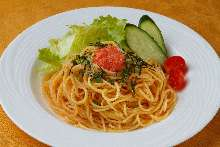 Pasta with Pollack Roe and Spaghetti with Cod Roe