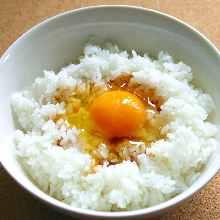 比内地鶏の生卵かけご飯