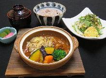 A set menu of beef stew