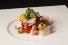Marinated octopus and tomatoes