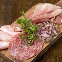Assorted ham and prosciutto