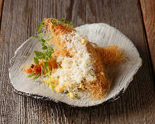 Shrimp kataifi roll