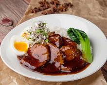 Roasted pork rice bowl