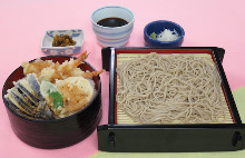 Tempura rice bowl meal set