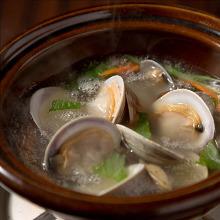 アサリと白蛤の酒蒸し