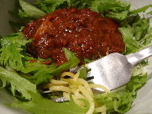 Pasta with Asian-style meat sauce
