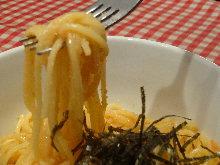 Spaghetti with mentaiko
