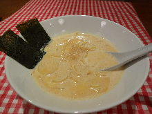 Pasta in cream soup