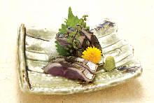 Seared pickled mackerel