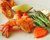 Salted and grilled shrimp