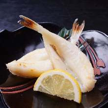 Grilled puffer fish, seasoned with salt
