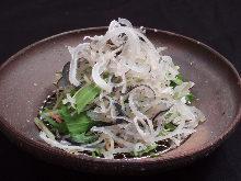 Blowfish skin salad