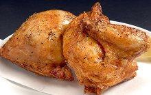 Fried half body of chicken