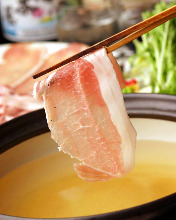 Pork and lettuce shabu-shabu
