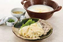 Yuba (tofu skin) shabu-shabu