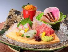 Assorted sashimi of the season