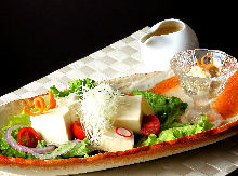 Yuba (tofu skin) salad