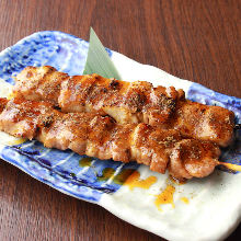 Grilled pork skewer