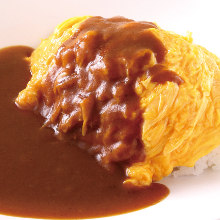 Omelette curry rice