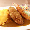 "Western Style Diner's Special ""Omelet & Curry"" Plate"