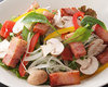 Salad with 15 Different Vegetables and Bacon