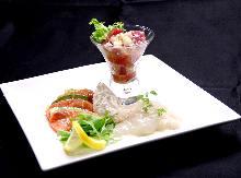 鮮魚のカルパッチョ盛り合せ
