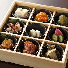 Assorted delicacies