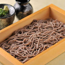 Itasoba (buckwheat noodles served in a wooden box)