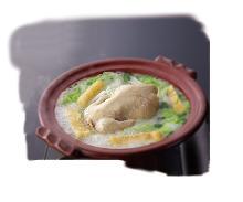 コクのある味わい 桜島どりの水炊き鍋