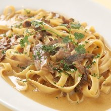 Pasta with mushroom cream sauce